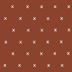rust red exes ex x cross crosses gift wrap fabric wallpaper wrapping paper christmas stylish