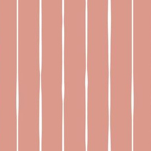 salmon pink hand drawn vertical lines vertical stripes striped stripes gift wrap fabric wallpaper wrapping paper