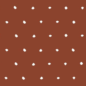 rust red hand drawn Dots Spots Dotty Spotty gift wrap fabric wallpaper wrapping paper
