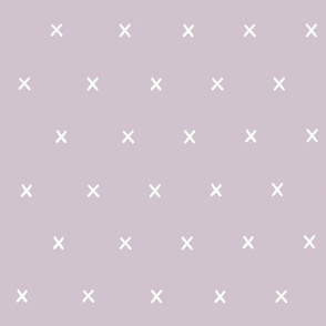 mauve lilac Freehand exes ex x cross crosses scandi minimalist prints