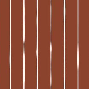 rust red Scandi vertical lines vertical stripes striped stripey wallpaper gift wrap fabric