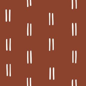 rust Scandi parallel lines horizontal lines mud cloth simple wallpaper gift wrap fabric