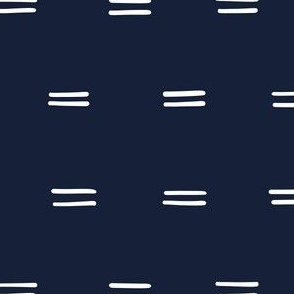 navy blue Freehand parallel lines horizontal lines mud cloth simple wallpaper gift wrap fabric