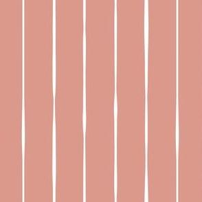 salmon Scandi vertical lines vertical stripes striped stripey wallpaper gift wrap fabric