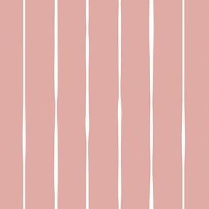 pink Scandi vertical lines vertical stripes striped stripy wallpaper gift wrap fabric