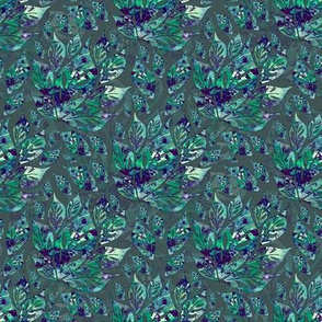 Leaves with Blue
