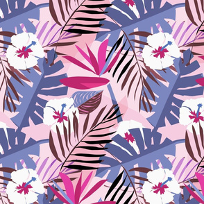 tropical repeat pinks medium
