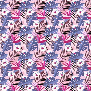 tropical repeat pinks small