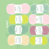 2020 Calendar, Sunday / Knit Your Dream / Neo Mint