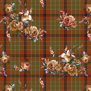Borderlands Tartan Floral ginger