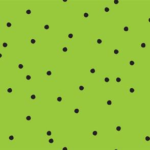 Small Dots Repeat Green BG
