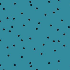 Small Dots Repeat Teal BG