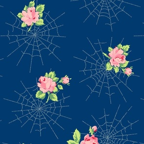 Dewdrops & Roses (Navy)