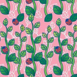 Ladybug Garden-Peach