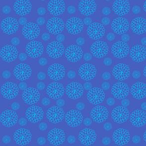 Floating Blue Flowers