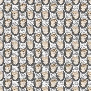 Cream Shiba Inu horseshoe portraits - small