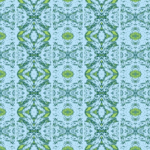 Norfolk Lace Stripe - lime and aqua