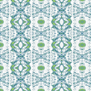 Norfolk Lace Stripe - lime, navy and white