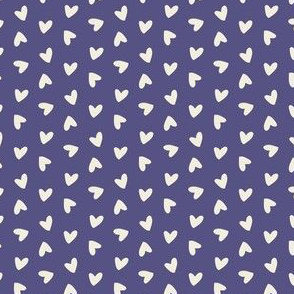 Tossed Hearts on Purple