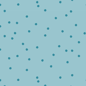 Small Dots Repeat Muted Teal BG