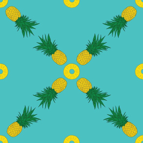 Pineapple square pattern