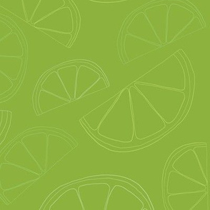 Lemon and Lime Wedges Seamless Pattern