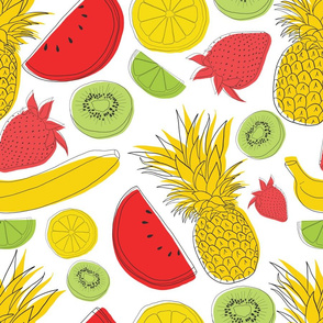 Summer Fruit Seamless Pattern