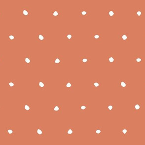 burnt orange coral Dots Spots Dotty Spotty fabric gift wrap wrapping paper wallpaper