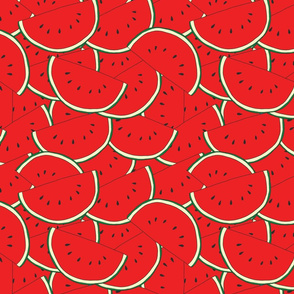 Bunch of Watermelons Seamless Pattern