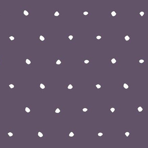 Dusty purple Dots Spots Dotty Spotty fabric gift wrap wrapping paper wallpaper
