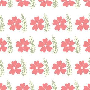 prety pink flower and leaf