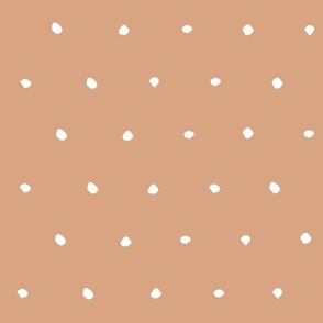 hand drawn dots spots dotty spotty organic fabric gift wrap wallpaper light brown earth tones