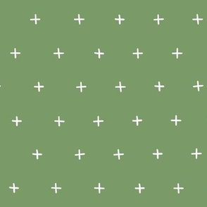 freehand crosses hand drawn scandi fabric wallpaper gift wrap wrapping paper green