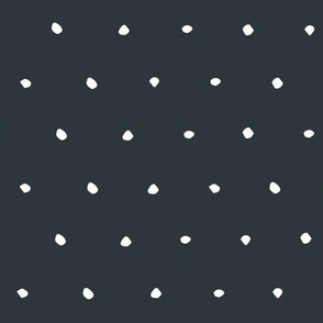 hand drawn dots spots dotty spotty organic fabric gift wrap wallpaper dark navy blue charcoal