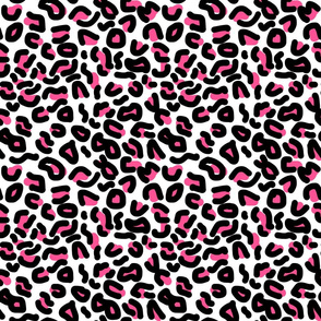 Animal Print - leopard (hot pink) - medium