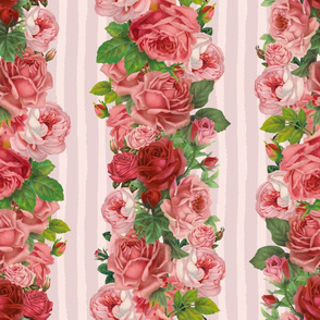 Vintage Rose Stripes_3