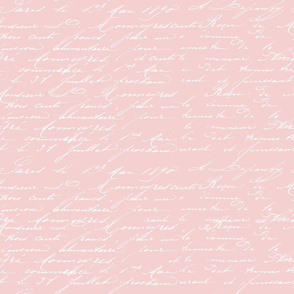 Vintage Handwriting Pink White
