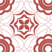 Tea towel - embroidery - Anna