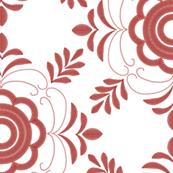 Tea towel - embroidery - Kristina