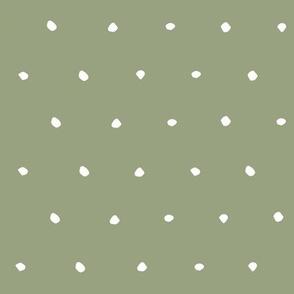 hand drawn dots spots dotty spotty organic fabric gift wrap wallpaper green