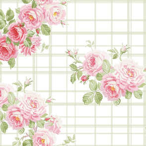 May Day Summer Roses basil tartan
