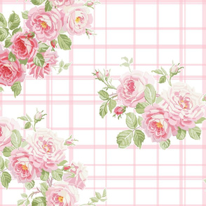 May Day Summer Roses sorbet tartan