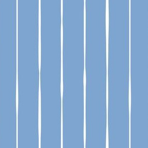 blue hand drawn organic stripes striped lines fabric gift wrap wallpaper