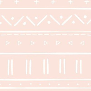 2 // african inspired mudcloth fabric wallpaper gift wrap ethnic mud cloth fabric pale pink