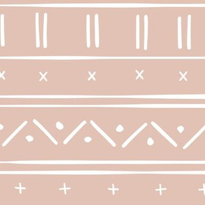 2 // african inspired mudcloth fabric wallpaper gift wrap ethnic mud cloth fabric earth tone peachy pink blush pink