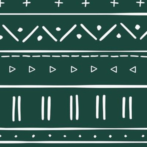 2 // african inspired mudcloth fabric wallpaper gift wrap ethnic mud cloth fabric dark green emerald and white