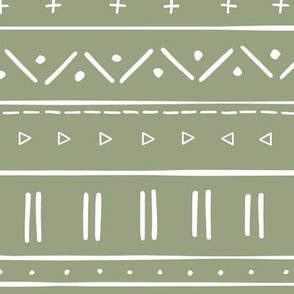 2 // african inspired mudcloth fabric wallpaper gift wrap ethnic mud cloth fabric green
