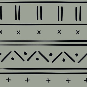 1 // african inspired mudcloth fabric wallpaper gift wrap ethnic mud cloth fabric sage green and black