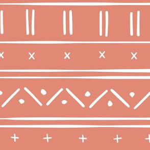 1 // african inspired mudcloth fabric wallpaper gift wrap ethnic mud cloth fabric coral pink and white