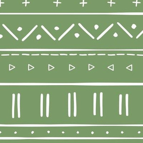 2 // african inspired mudcloth fabric wallpaper gift wrap ethnic mud cloth fabric grass green and white